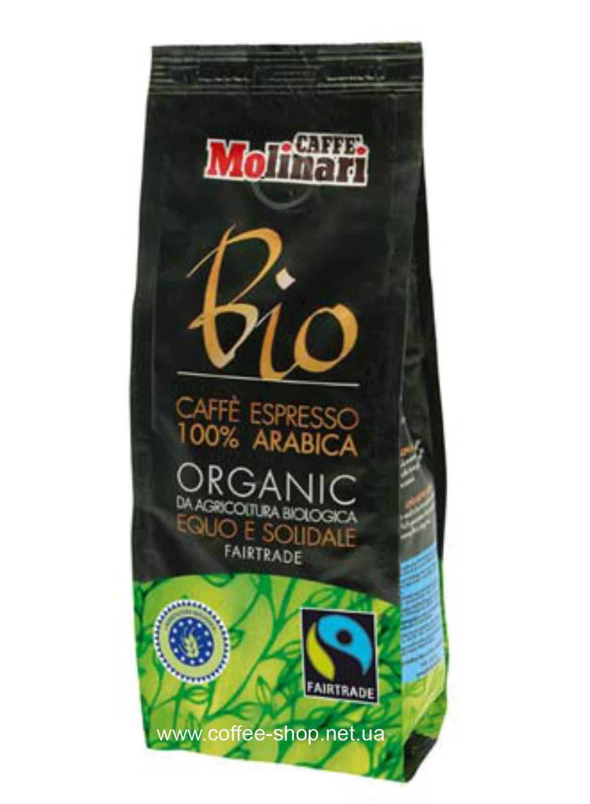 Кофе Molinari ORGANIC & FAIRTRADE молотый 250 г