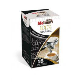 """Кофе Molinari Espresso """"100% ARABICA""""  кофе в чалдах"""