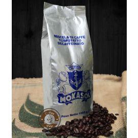Кофе Mokasol Decaffeinato в зернах без кофеина 1 кг