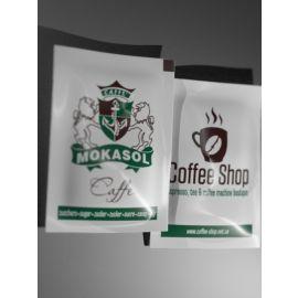 Сахар в стиках с логотипом Mokasol