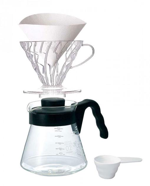 4SC000247 | Набор пуровер Hario V60 VCSD-02B-EX | Coffee Shop