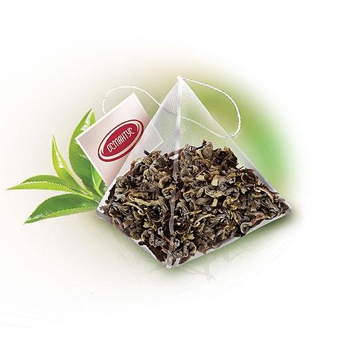 OS 152 | Зеленый чай порох Мелфорт Османтус в пирамидках 50 шт | Coffee Shop