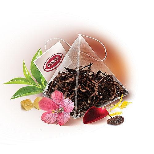 OS 156   Черный чай Рецепт Клеопатры в пирамидках 50 шт   Coffee Shop