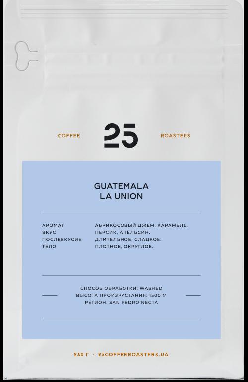 2018 | Кофе в зернах 25 Coffee Roasters Guatemala La Union 250 г | Coffee Shop