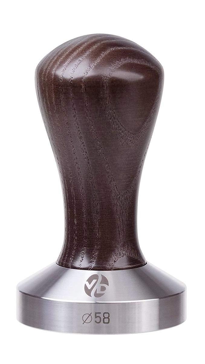 7053 | Темпер VD Coffee 58 мм Venge плоский | Coffee Shop