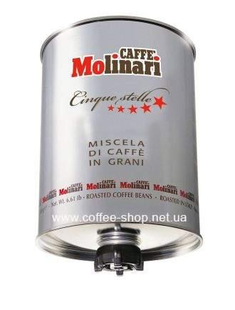 6703 | Кофе в зёрнах Molinari COFFEE BEANS CINQUE STELLE 3 кг | Coffee Shop