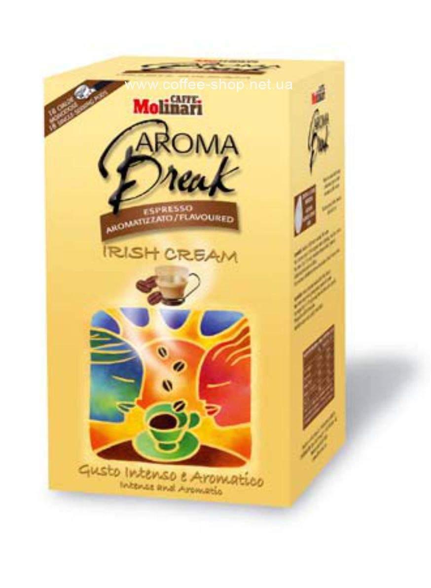 9218   Кофе в чалдах Molinari AROMA BREAK (ликёр Бэйлис) 18 шт.   Coffee Shop