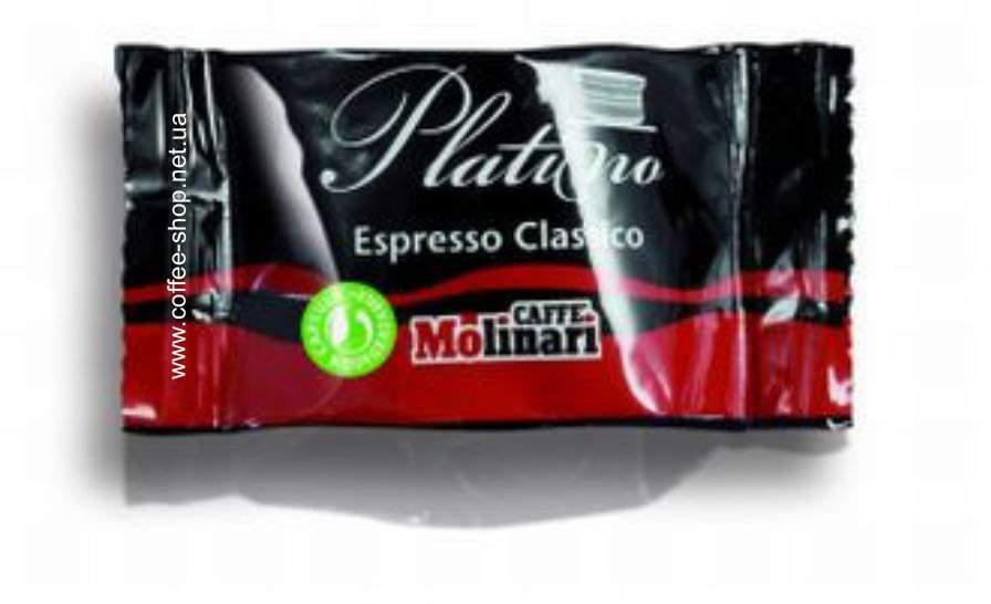 6281 | Кофе в капсулах  Molinari PLATINO LINE Espresso CLASSICO 100 шт | Coffee Shop
