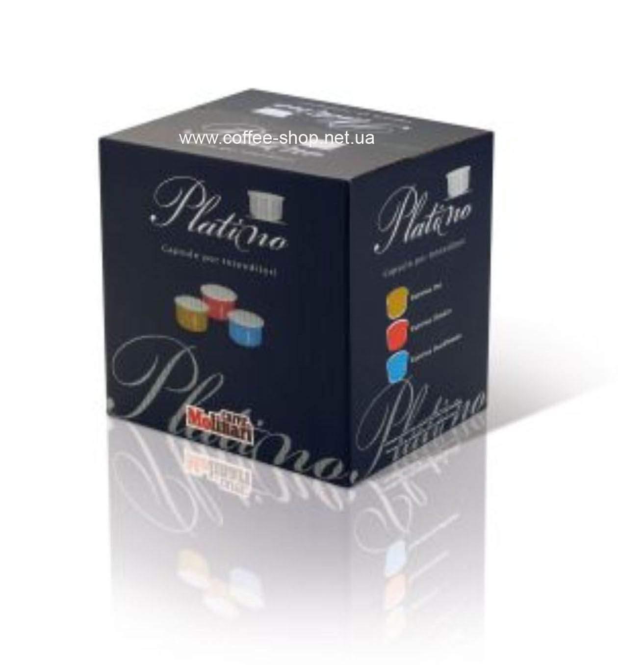 9380 | Кофе в капсулах Molinari PLATINO LINE Ginseng Flavoured Coffe (Женьшень) 50 шт | Coffee Shop