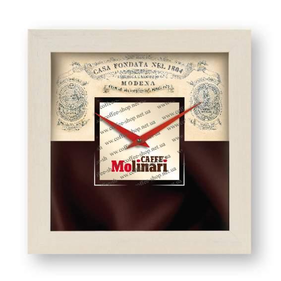 10730 | Настенные часы с логотипом Molinari | Coffee Shop