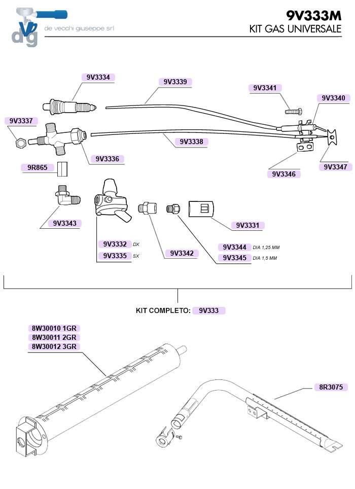 9V333 | Комплект газовой установки для кофемашины | Coffee Shop