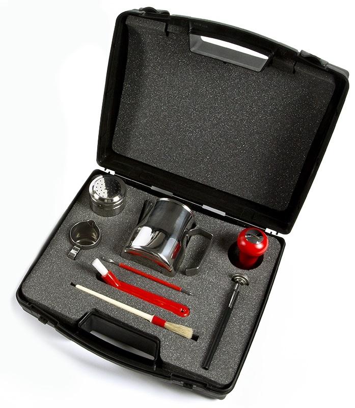 9V9796R | Профессиональный набор для бариста Motta Bellagio Red | Coffee Shop