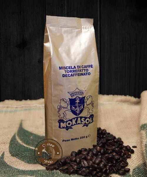 1916 | Кофе в зёрнах Mokasol Decaffeinato без кофеина 250 г | Coffee Shop