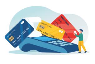 Платежными картами Visa, MasterCard